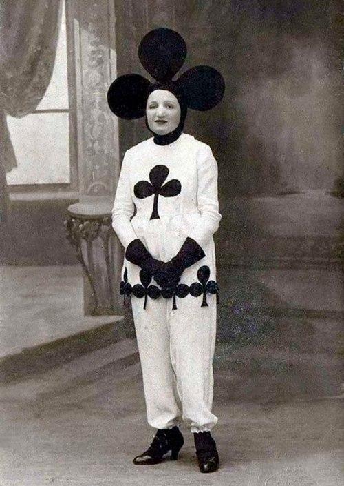 Woman in Club Costume