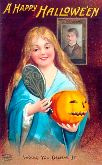 Old time Halloween Card